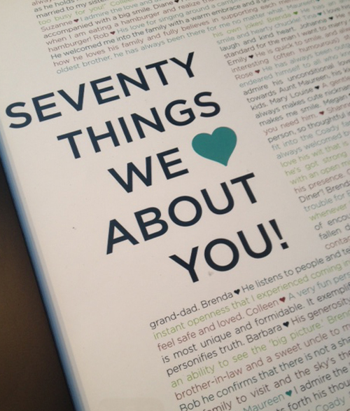 70 things we love about you... - Curtains are Open