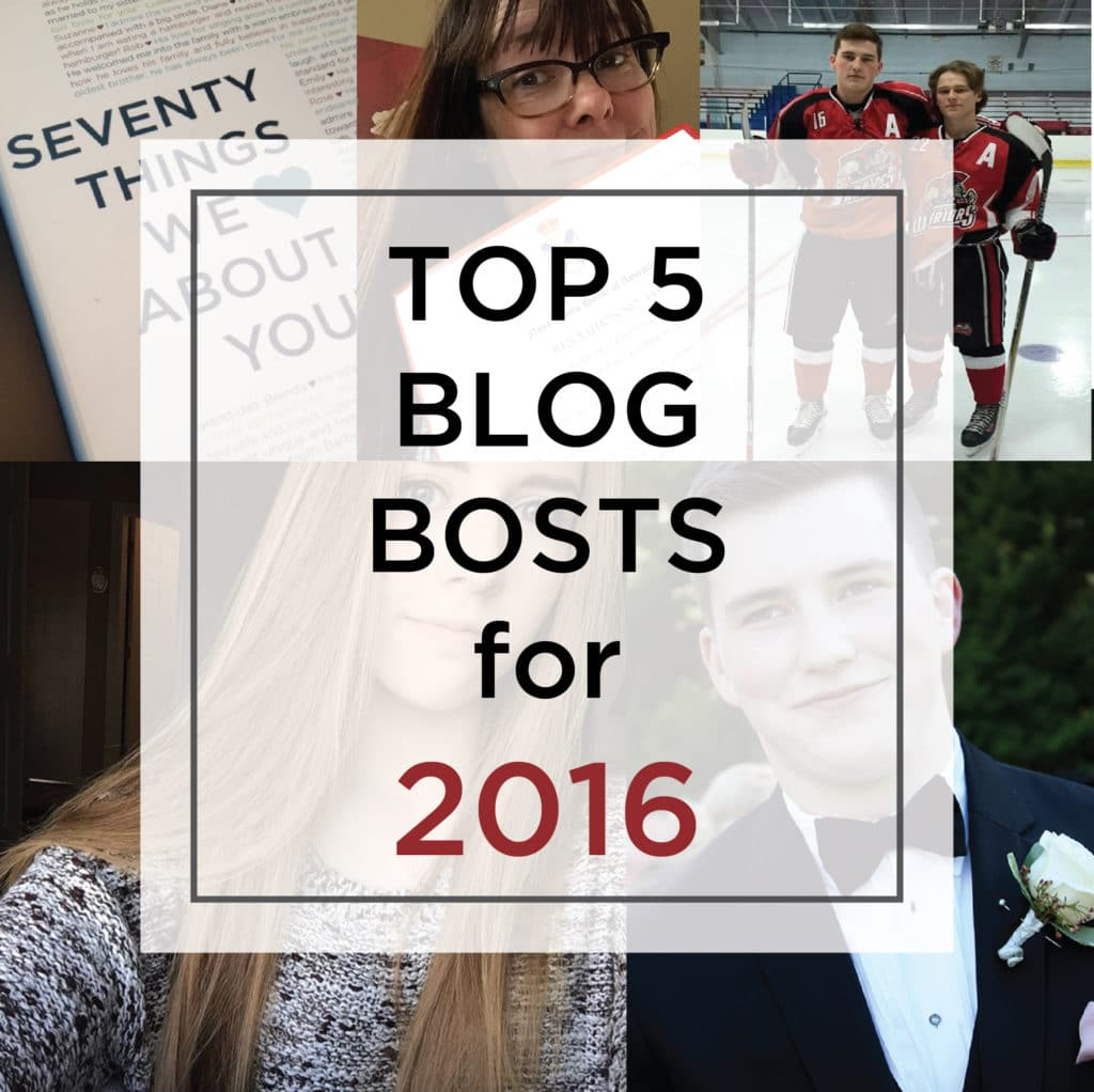 Top 5 Blog Posts 2016